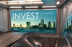 Bank station Invest campaign mock-up