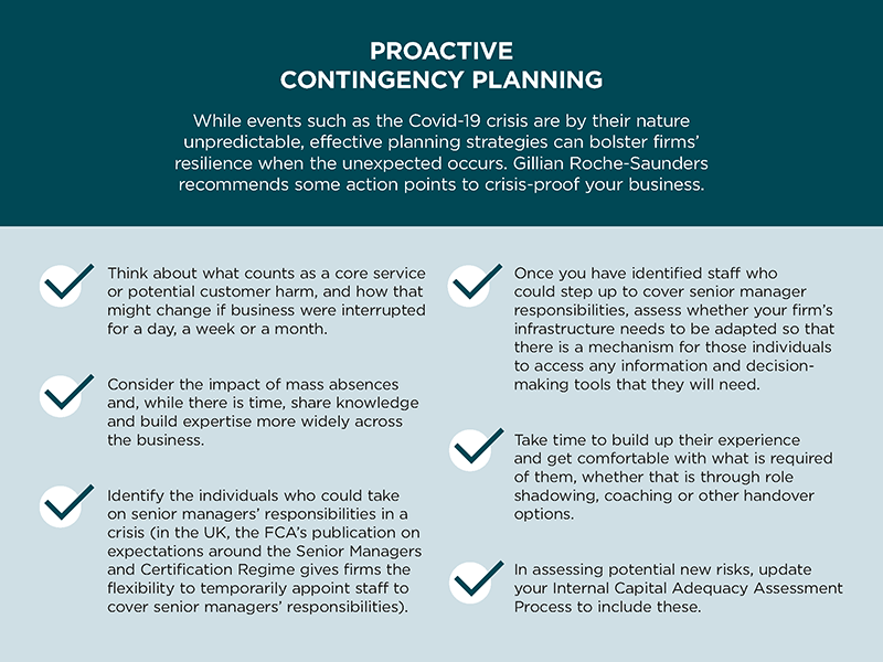 proactive contingency planning